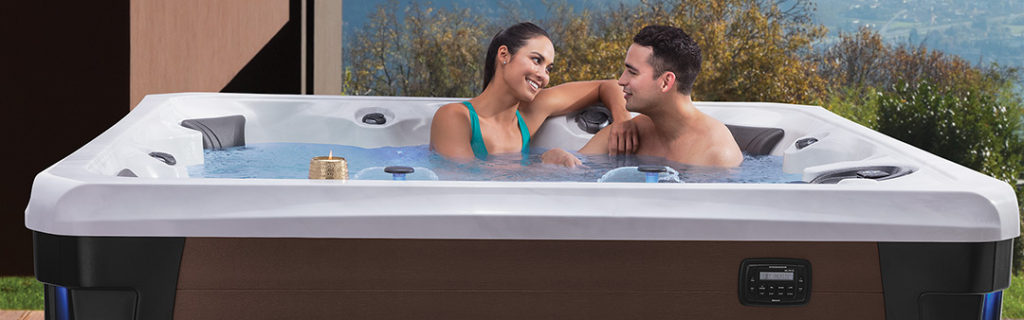 Happy Couple Marquis Hollywood Hot Tub