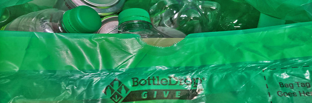 Bottles and cans are recycled through the Oregon bottle-deposit program