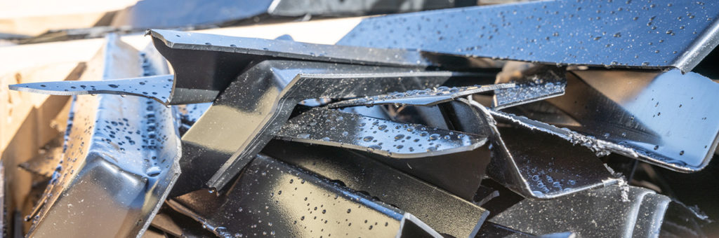 Acrylic and HDPE scrap is recycled by a trusted service provider